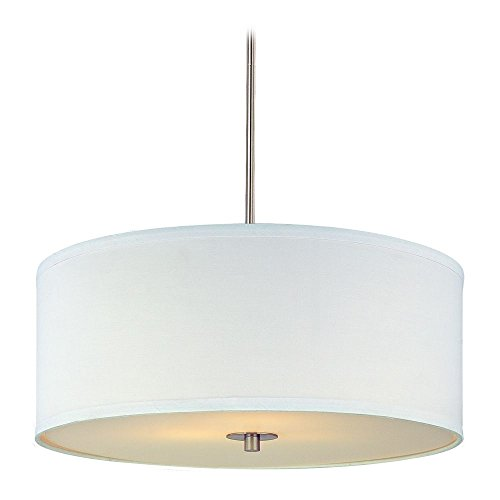 Drum Pendant Light White Shade in US - 6