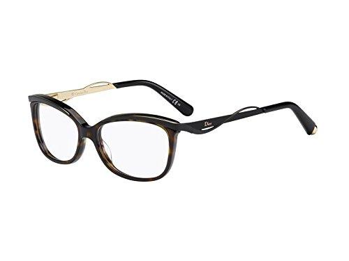 DIOR Eyeglasses 3280 06Ny Dark Havana Black 53MM ()
