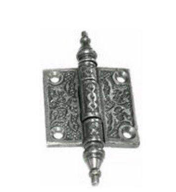 - Pair of Decorative Cast Iron Cabinet Hinges - 2