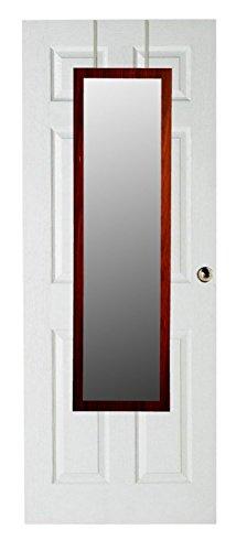 Home Basics DM47010 48 inch Over the Door Mirror Mahogany