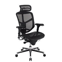WorkPro Quantum 9000 Series Ergonomic Mesh High-Back Chair with Headrest, - Series Desk Quantum