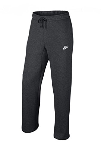 Nike Mens Open Hem Fleece Pocket Sweatpants Dark Grey/White 823513-071 Size Small