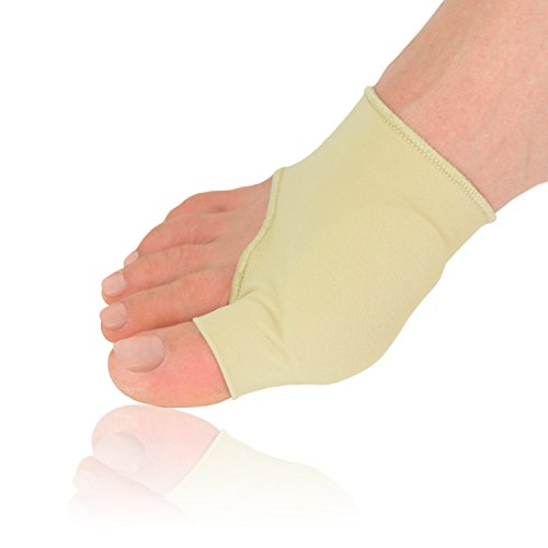 Dr. Frederick's Original Gel Pad Bunion Sleeves - 2 Booties for Bunion Relief Before and After Bunion Surgery - Wear with Shoes - Large - W7-14 | M5-13 2' Stretcher Pad