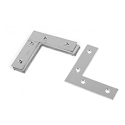 eDealMax 60mmx60mm en forma de L de acero inoxidable soporte de ángulo de la esquina soporte