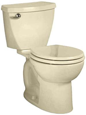 American Standard Cadet 3 Right Height Round Front Flowise Two-Piece High Efficiency Toilet with 10-Inch Rough-In, Bone Bone