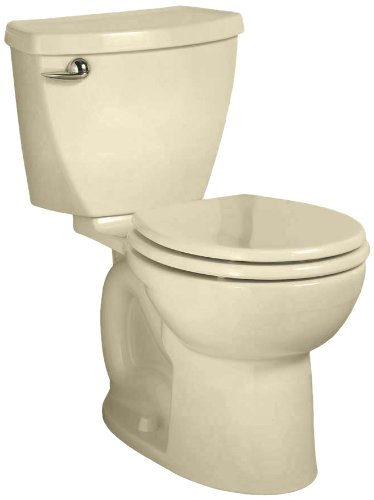 det 3 Right Height Round Front Flowise Two-Piece High Efficiency Toilet with 10-Inch Rough-In, Bone Bone (Cadet 3 Flowise Tank)