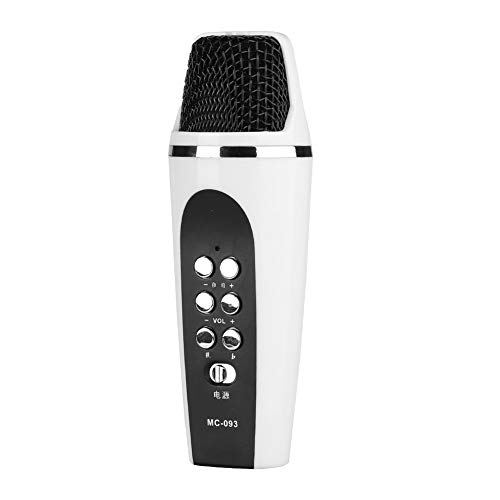 ASHATA Voice Changer Microphone, Microphone Mic Voice Changer Wireless Microphone Bluetooth Microphone Karaoke Speaker with 4 Voice Conversion Modes for Smartphone PC