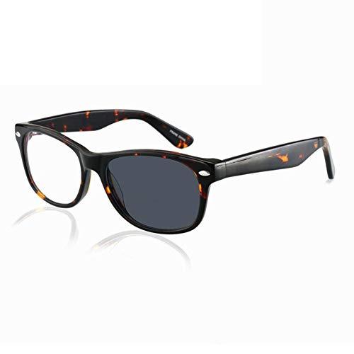 0189e2da1243 Trendy Bifocal Reading Glasses Readers for Men and Women - Photochromic  Sunglasses, Acetate Square Frame / Clear Thin Flat Lens / Anti Glare /  Magnification ...