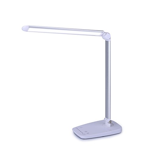 LED Desk Lamp  Yokkao Eye Protection Table Lamp 10W Dimmable Fordable Touch Control 7 Lighting Brightness Color Temperature modes with USB Port