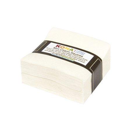(Robert Kaufman Kona Cotton Snow Mini Charms 84 Squares 2.5 Inches)