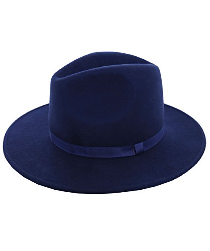 PS by Paul Smith Women's Wool Fedora Hat L Navy by PS by Paul Smith