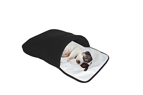 purrrfect life Cat Sleeping Bag, White/Black by purrrfect life