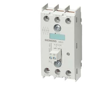 Siemens 3RF22 55-3AC45 Solid State Relay, 45mm, 3 Phase, 3 Phase Controlled, Ring Terminal End Connection, Zero-Point Switching, 48-600V Rated Operational Voltage, 55A Type Current, 4-30VDC Rated Control Supply Voltage