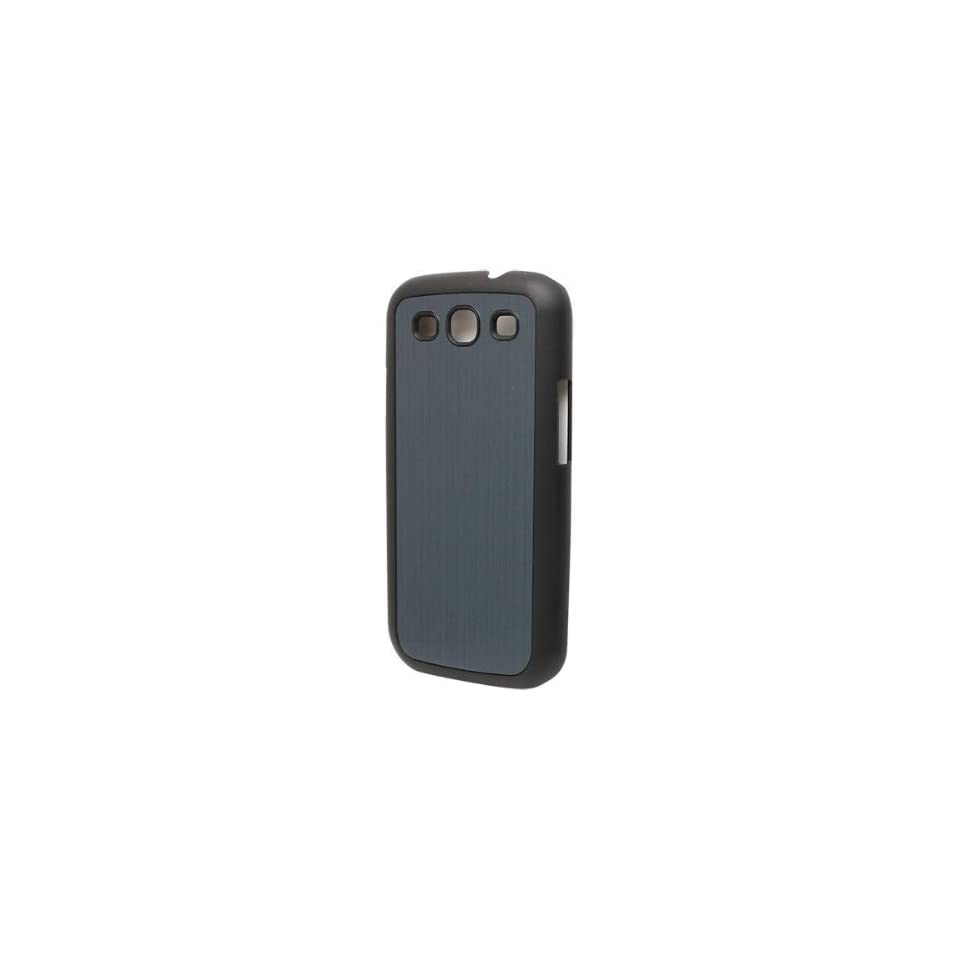 Versio Mobile VM 20259 Brushed Aluminum Case for Samsung Galaxy S III   Black/Blue