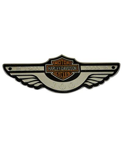 Harley 100th Anniversary - 3D Metal 100th Anniversary Emblem / Badge For Harley Davidson Tank / Body