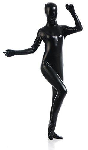 [VSVO Unisex Skin-tight Spandex Full Bodysuit for Adults and Children (Kids Large, Black)] (Adult Black Suit Superman Costumes)