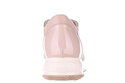 Hogan chaussures baskets sneakers femme en cuir interactive h flock beige