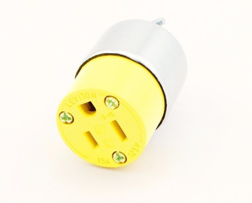 Leviton 515CA 15 Amp, 125 Volt, Cord Outlet, Armored, Grounding, (Armored Grounding Plug)