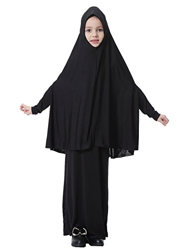 GladThink-Muslim-Girls-Long-Sleeve-Hijab-Dress-Set
