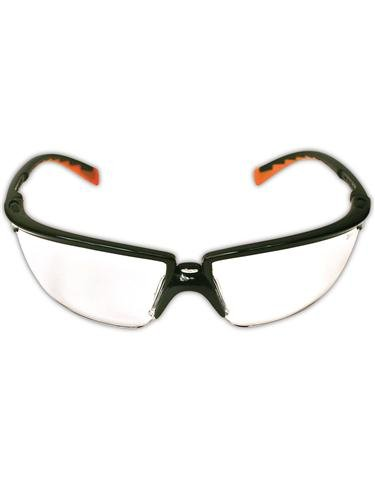3M 10078371620872 Privo Protective Eyewear with Black Frame and Clear Anti-Fog Lens, Black