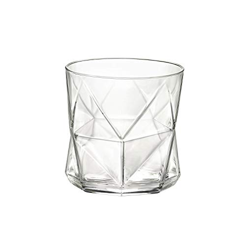 Glass Bormioli Glass Highball Rocco - Bormioli Rocco 234510GRB021990 Cassiopea Rocks Glass, Clear, 11.25 oz Glassware Set,