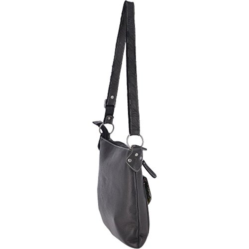 avant bandoulière noir et en supérieur Sac poche moyen cuir Jenny zip avec AFBq1qz7