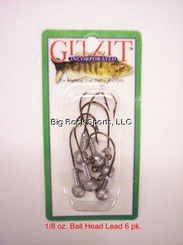 (Gitzit 74018 Ball Head Lead Jig, Multicolor)