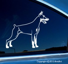DOBERMAN PINSCHER - Vinyl Dog Decal for Cars- Sticker Size 5.5