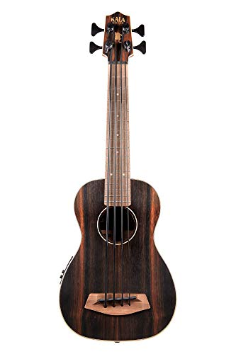Kala UBASS EBY FS Acoustic Electric Bass Striped Ebony Fretted w Bag, Natural by Kala (Image #4)