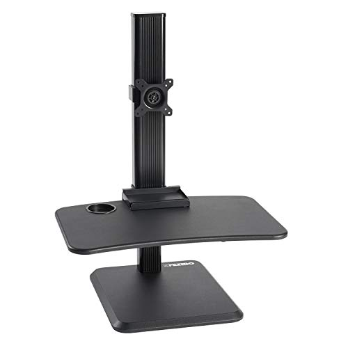 Standing Desk Converter with Height Adjustable – FEZIBO Sit to Stand up Desk Riser 26