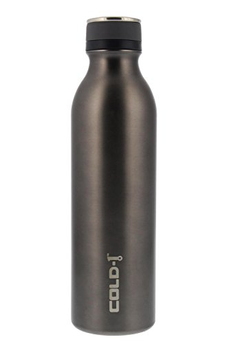 reduce COLD-1 Stainless Steel Vacuum Insulated Hydro Pro Bottle with Nonslip Rubber Base, 28oz - Tasteless and Odorless (Gray)
