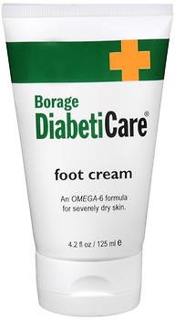 Borage DiabetiCare Foot Cream - 4.2 oz, Pack of 2 (Borage Cream Foot)