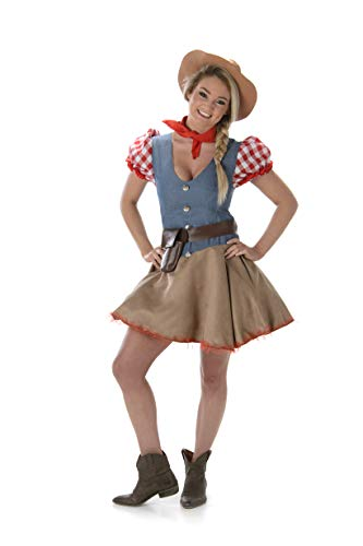Women's Rodeo Cowgirl Costume for Halloween Costume Party