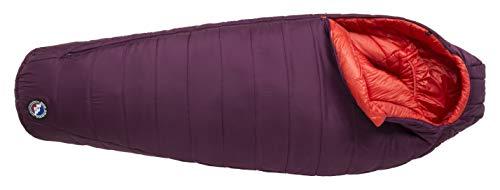 Big Agnes Women's Sunbeam 0 (FireLine Eco) Sleeping Bag, Petite, Left Zip, Beet/Paprika