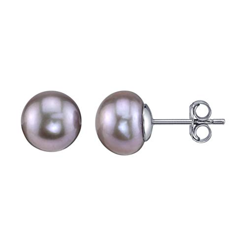 - THE PEARL SOURCE 10-11mm Genuine Pink Freshwater Cultured Pearl Stud Earrings for Women