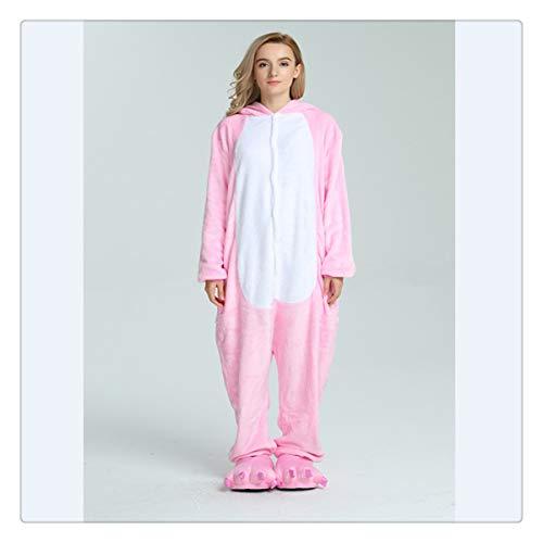 Animal Stitch Star Unicorn Pikachu Onesie Adult Unisex Cosplay Costume Pajamas Sleepwear for Men Women Xmas H Pink Unicorn Tenma S]()