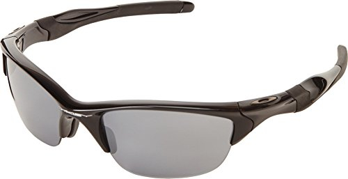 Oakley Men's Non-Polarized Half Jacket 2.0 Oval Sunglasses,Polished Black Frame/Black Iridium Lens, 62 - Shade Oakley