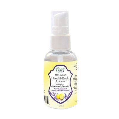 Finally Pure - 2 oz Travel Size Lemon Lavender Hand & Body Lotion