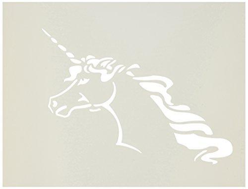 Stencil1 S1_01_02 Unicorn Stencil, Stencil, Stencil, 8.5 by 11, Weiß by Stencil 1 B01KBBMXMK   Haltbar  30b5e0