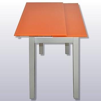 Deikea.Com - Cocina mesa extensible cristal templado, medidas ...
