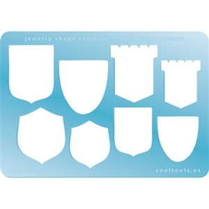 Cool Tools - Jewelry Shape Template - Shields & Crests