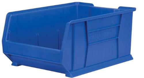 Akro-Mils 30289 Super Size Plastic Stacking Storage Akro Bin, 24-Inch D by 18-Inch W by 12-Inch H, Blue by Akro-Mils