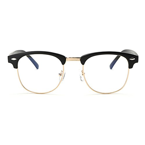 LOMOL Retro Classic Radiation protection Student Style Clear lens Glasses - Clear Get I For Lenses Where My Can Glasses
