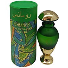 Romance Roll-on - Arabian Designer Essential Perfume Oil Fragrance - Long Lasting Attar / Itar / Ittar - Alcohol Free - for Men and Women - Hombre y Mujer - Exquisite glass bottle Roller by Rasasi