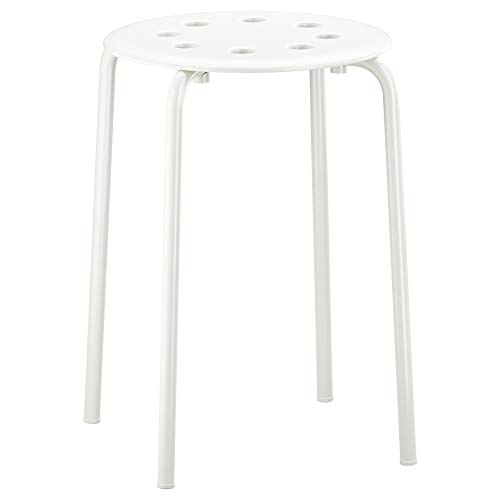 Amazon.com: Ikea - Marius taburete apilable - Color blanco ...