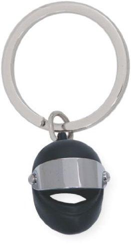 Llavero casco moto negro.