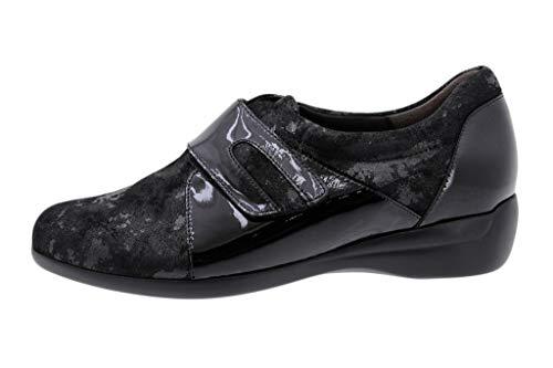 Velcro Zapato Negro Piesanto Cómodo Mujer Saturno 185577 wwrEpzx