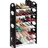 Ilios Innova Zapatera Organizador De Zapatos armable con Tubos de Acero, Compacto y práctico 6 Niveles almacena hasta 18 Pares con Altura Ajustable para Cada Nivel