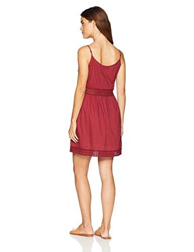 Wild Oasis Beachwear Women's Crochet Trim Tank SolidShort Dress X-Small Red Mulberry by Wild Oasis Beachwear (Image #2)