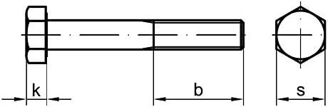 10 Stk Sechskantschraube /& Mutter DIN 601 M12 x 360 Stahl verzinkt